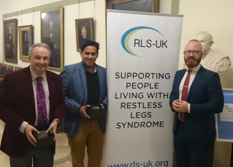 Prof Chaudhuri receives award for services to people suffering from RLS